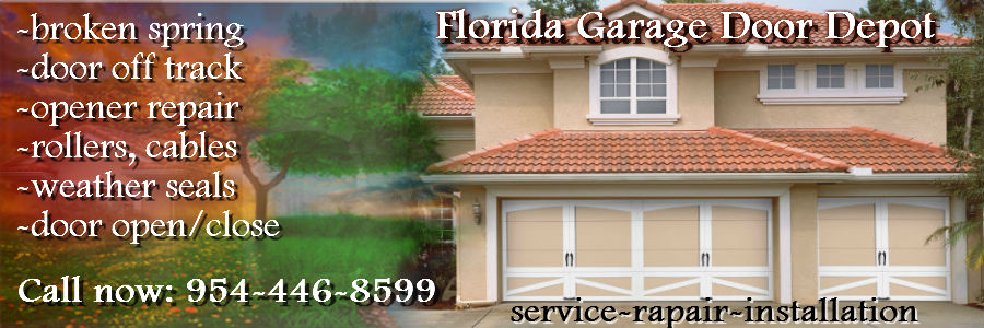 Garage Door Repair Miramar Fl Garage Door Broken Spring Service
